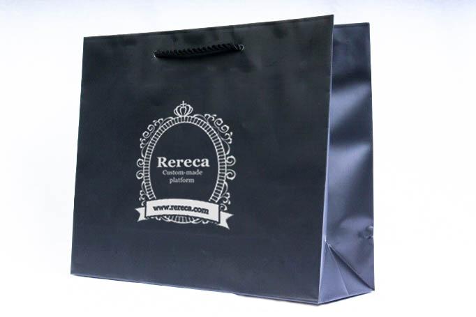黒ベタ紙袋パターン1
