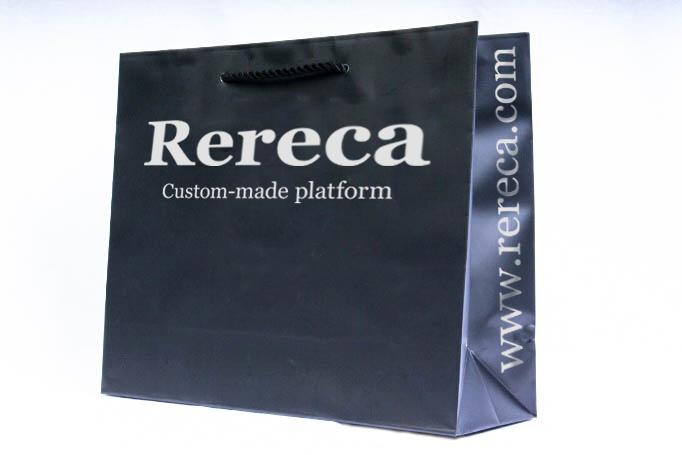 黒ベタ紙袋パターン3