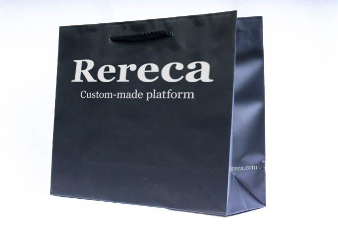 黒ベタ紙袋パターン4