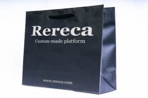 黒ベタ紙袋パターン2