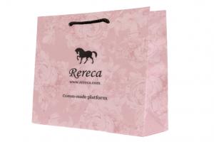 紙袋パターン ピンク 花柄